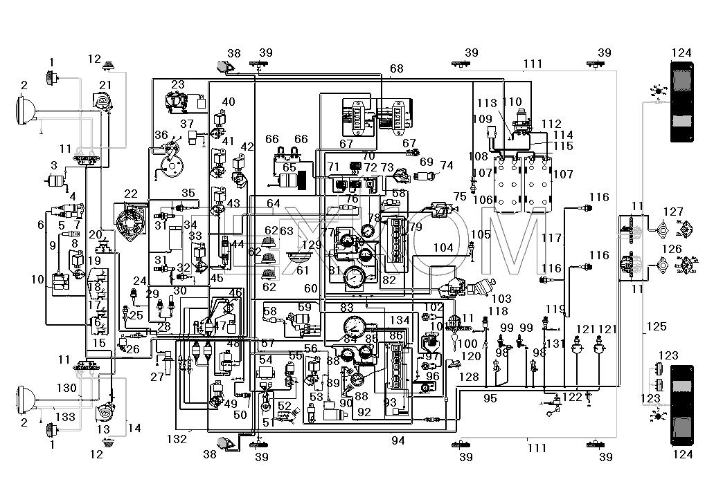 цветная электросхема камаз 4310