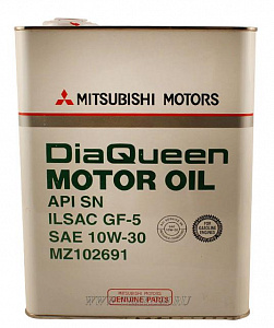 Масло моторное MITSUBISHI DIAQUEEN SL 10W30 4л.