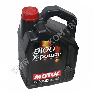 Масло моторное MOTUL 8100 X-POWER 10w60 5л.